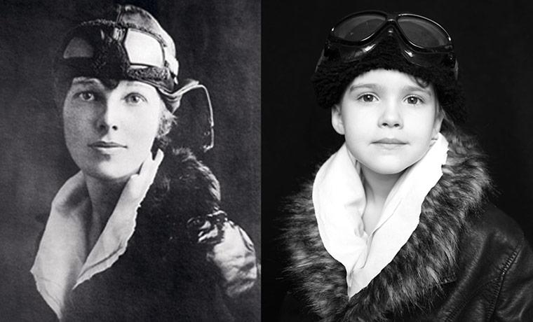 Amelia Earhart and Emma