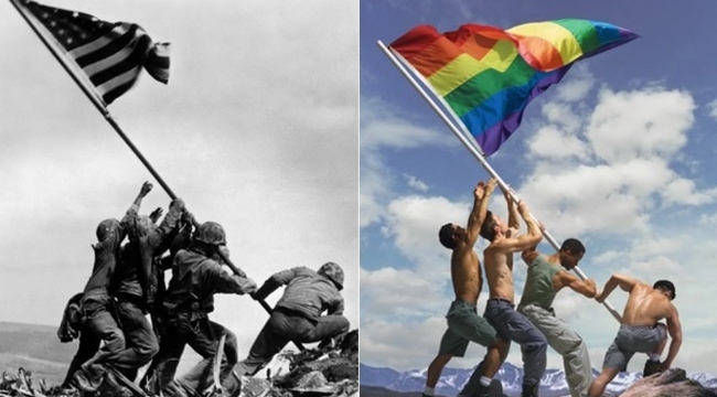 iwo-jima-flag-raising-gay-pride-flag